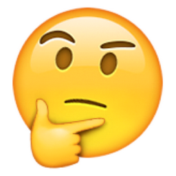 Emoji with hand on chin