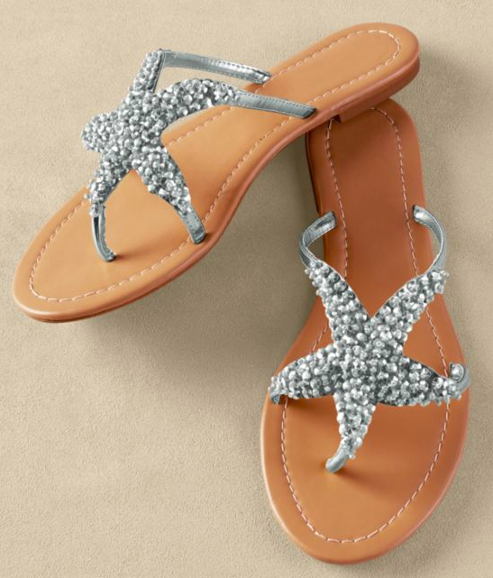 starfish summer sandal star sign