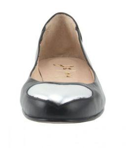 ballet flats leather shoe heart