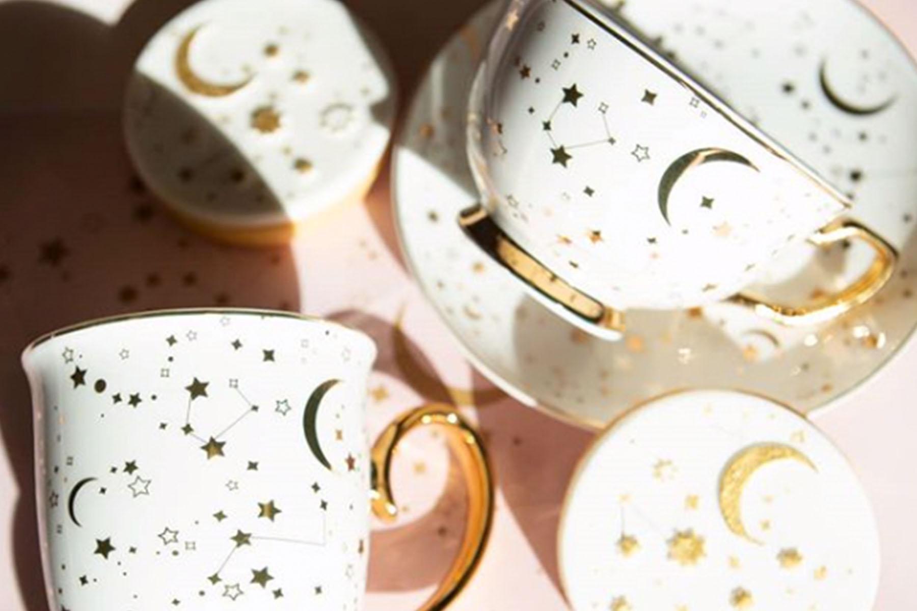 starry tea cups
