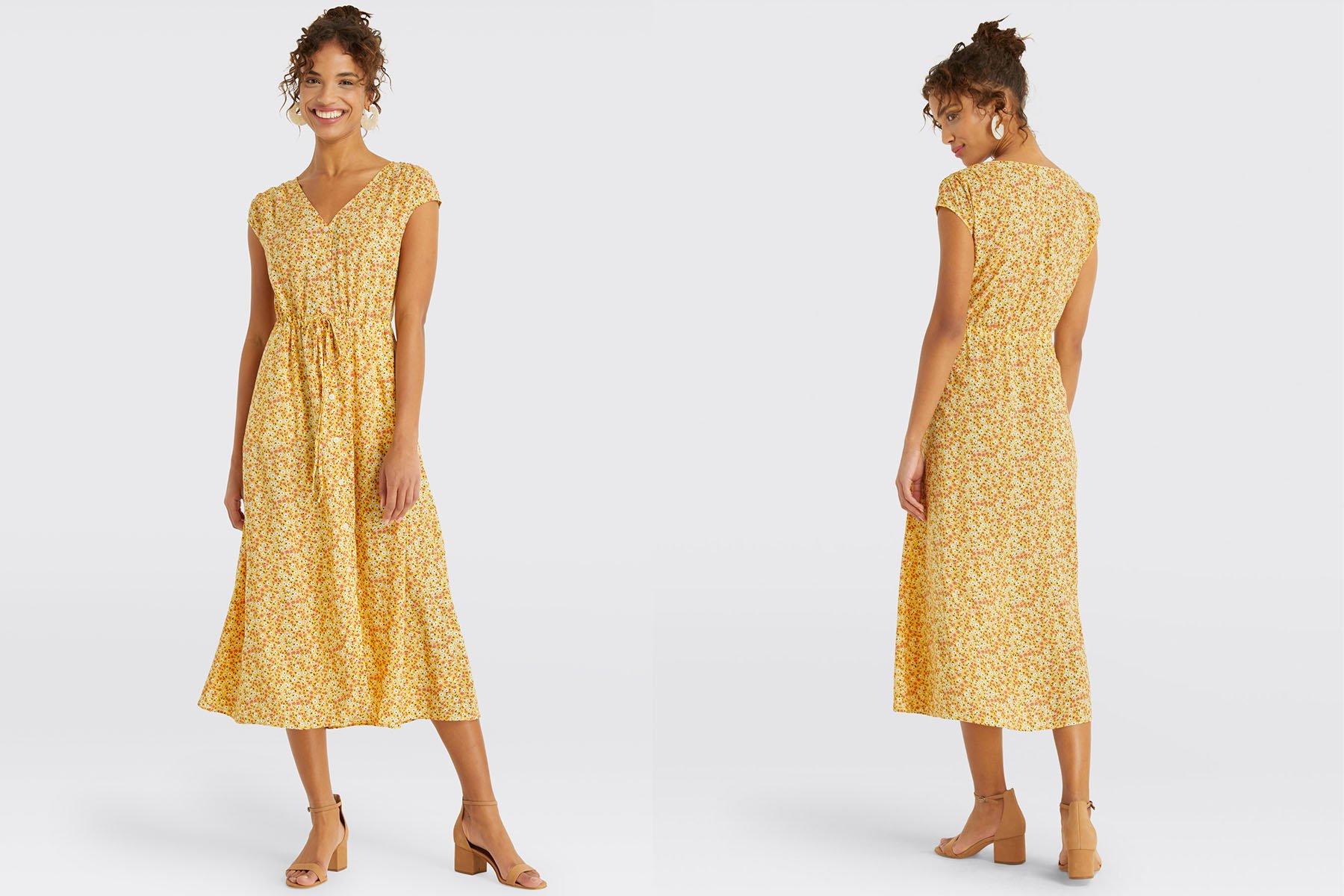 Draper James floral button front dress
