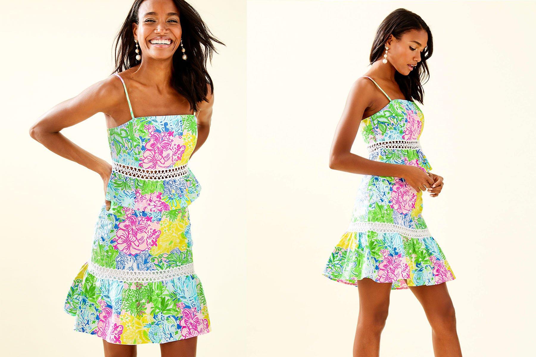lily pulitzer jan peplum top and skirt