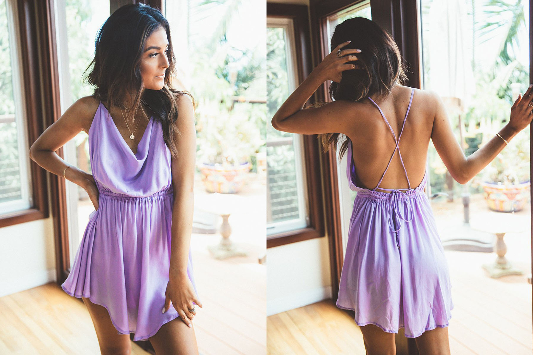 Indah tahini dress