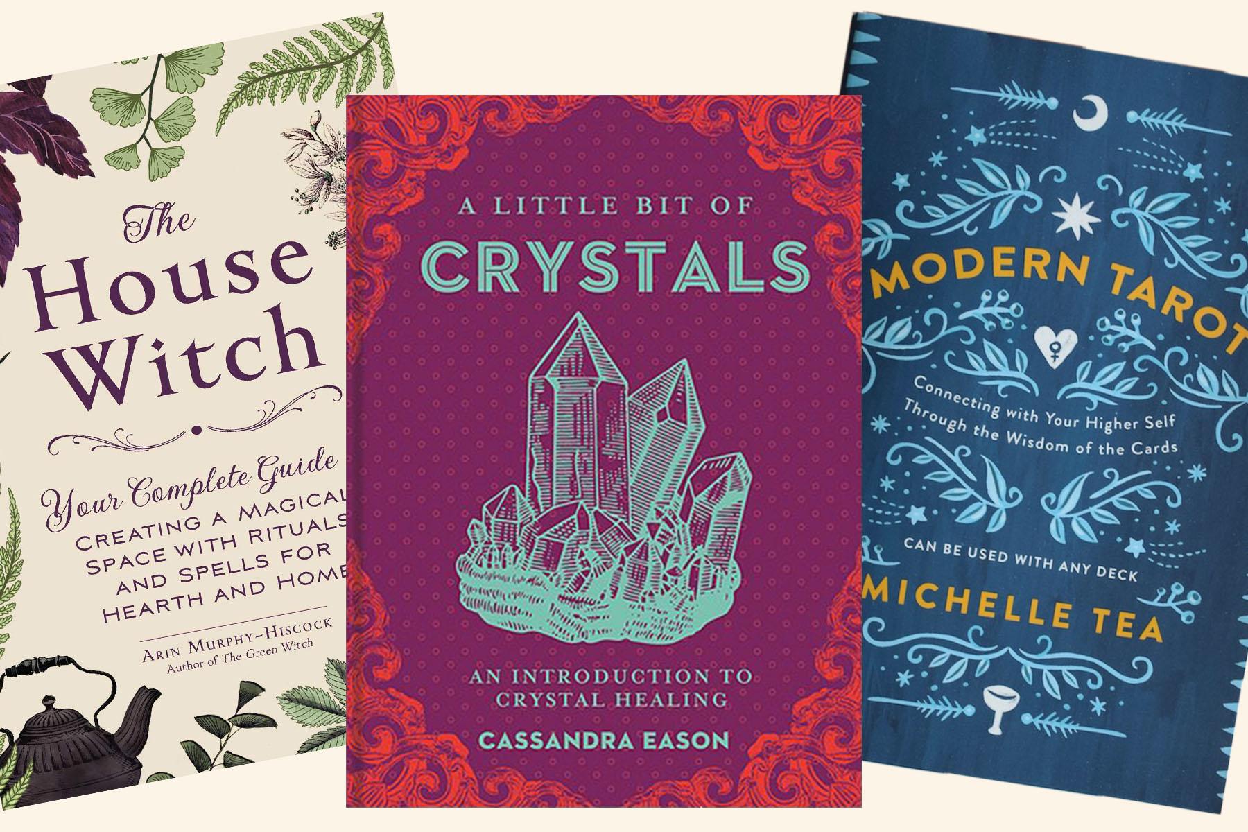crystal herb tarot books