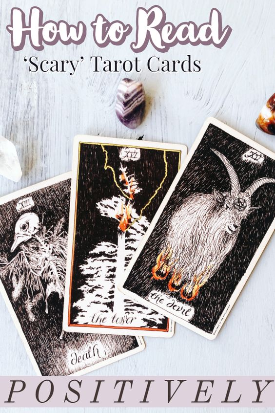 reading scary cards