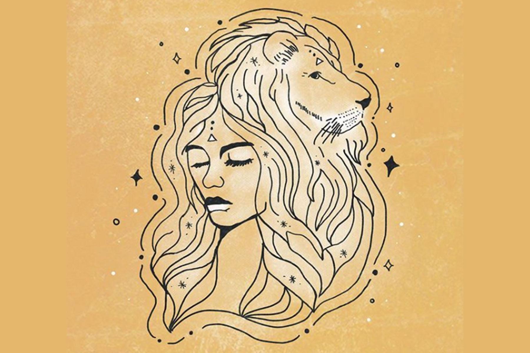 girl lion